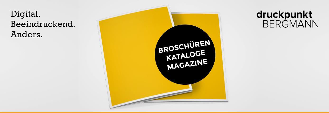 Broschüren, Kataloge & Magazine